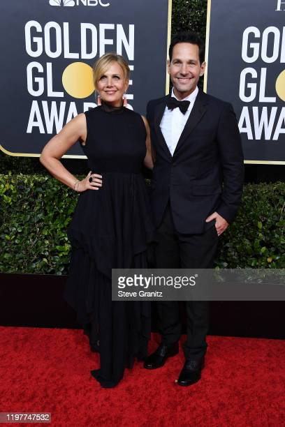 Julie Yaeger and Paul Rudd attend the 77th Annual Golden Globe Awards at The Beverly Hilton Hotel on January 05, 2020 in Beverly Hills, California.