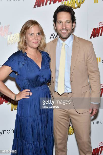 """Julie Yaeger and Paul Rudd attend the screening of Marvel Studios' """"Ant-Man and The Wasp"""" hosted by The Cinema Society with Synchrony and Avion at..."""
