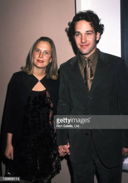 Julie Yaeger and Paul Rudd during New York Screening of 'The Object of My Affection' at City Cinemas East in New York City New York United States