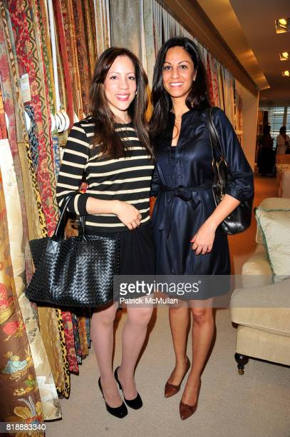 Julie Yenicag and Davika Kapur attend A celebration of CHINTZ with Albert Hadley and Schumacher at Schumacher Showroom on May 19 2010 in New York City