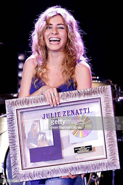 Julie Zenatti receives a Gold Record for her new Album 'Comme Vous'
