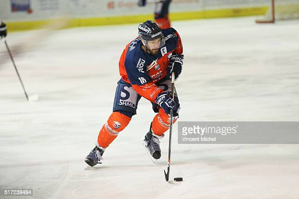 Julien Albert of Angers during the Ice hockey Ligue Magnus Final second game between Les Ducs d'Angers v Les Dragons de Rouen on March 23 2016 in...