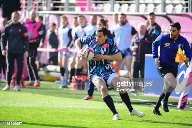 Julien Arias of Stade Francais Paris during the Top 14 match between Stade Francais and Agen at Stade Jean Bouin on April 13 2019 in Paris France