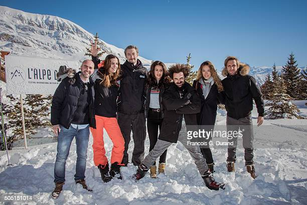 Julien Arruti Charlotte Gabris Vincent Desagnat Alice David Nicolas Benamou Elodie Fontan and Philippe Lacheau attend the 18th L'Alpe D'Huez...