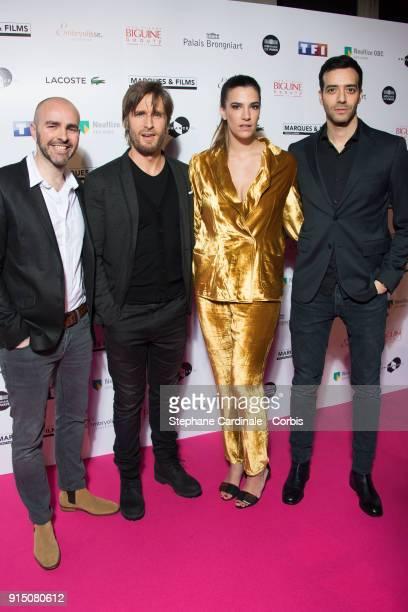 Julien Arruti Philippe Lacheau Charlotte Gabris and Tarek Boudali attend the 'Trophees du Film Francais' 25th Ceremony at Palais Brongniart on...