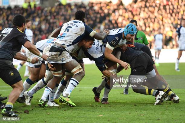 Julien Bardy and Nicolaas Van Rensburg og Montpellier during the Top 14 match between La Rochelle and Montpellier on December 2 2017 in La Rochelle...