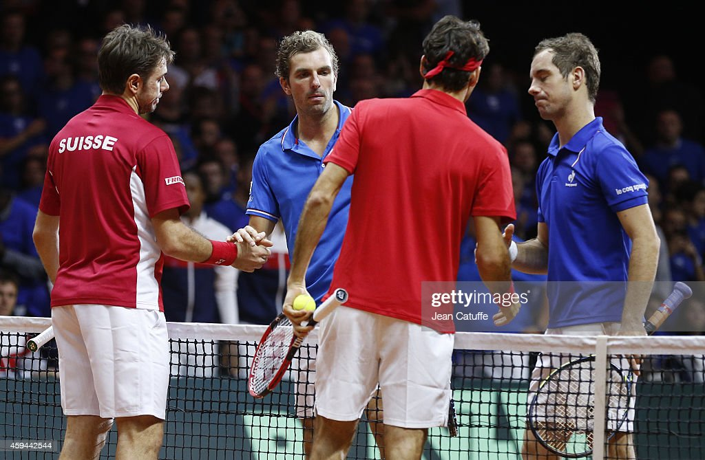 France v Switzerland - Davis Cup World Group Final: Day Two : News Photo