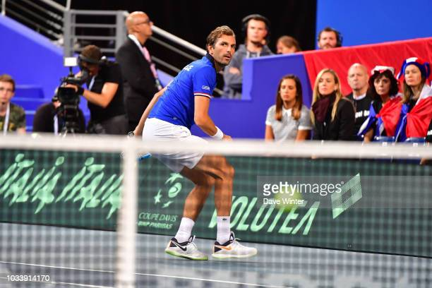 Julien Benneteau of France during Day 2 of the Davis Cup semi final on September 15 2018 in Lille France