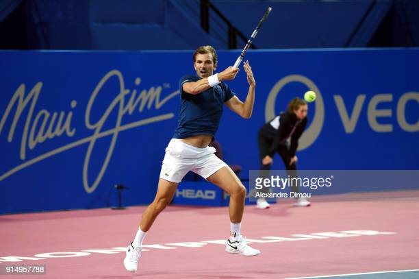 Julien Benneteau of France during the Open Sud of France ATP Montpellier on February 6 2018 in Montpellier France