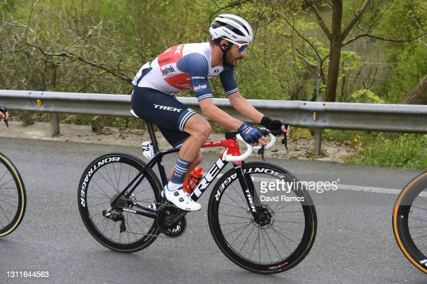 Julien Bernard of France and Team Trek - Segafredo during the 60th Itzulia-Vuelta Ciclista Pais Vasco 2021, Stage 5 a 160,2km stage from Hondarribia...