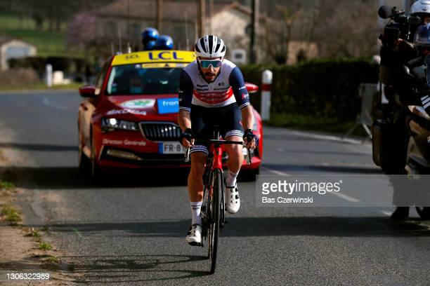 Julien Bernard of France and Team Trek - Segafredo during the 79th Paris - Nice 2021, Stage 4 a 187,5km stage from Chalon-Sur-Saône to Chiroubles...