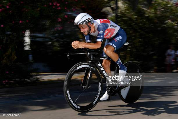 Julien Bernard of France and Team TrekSegafredo / during the 55th TirrenoAdriatico 2020 Stage 8 a 101km Individual Time Trial in San Benedetto del...