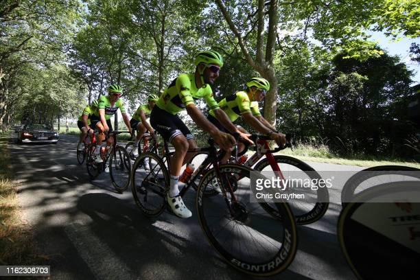 Julien Bernard of France and Team Trek-Segafredo / Koen de Kort of The Netherlands and Team Trek-Segafredo / Jasper Stuyven of Belgium and Team...