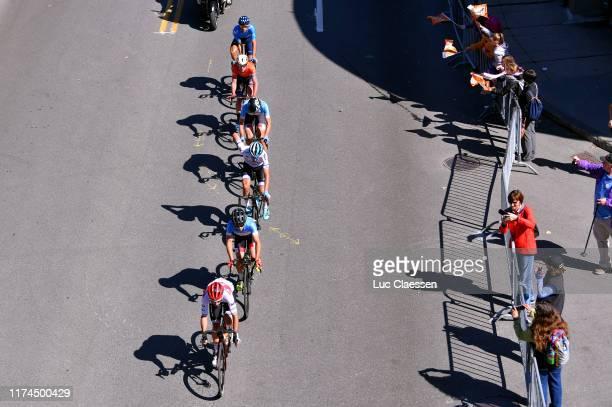 Julien Bernard of France and Team Trek-Segafredo / Luis Guillermo Mas of Spain and Movistar Team / Guy Sagiv Israel Team Israel Cycling Academy /...