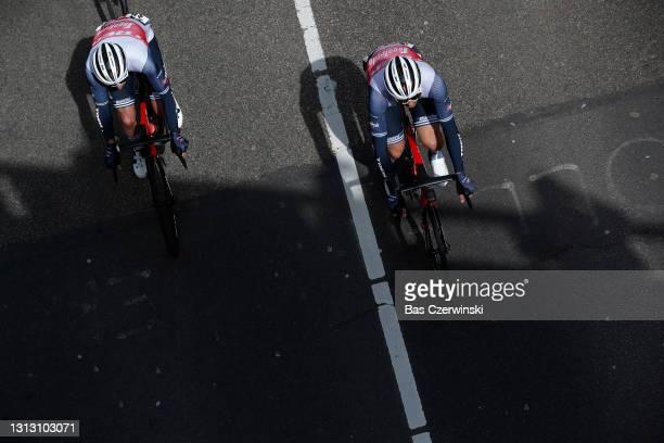 Julien Bernard of France, Theuns Edward of Belgium and Team Trek - Segafredo during the 55th Amstel Gold Race 2021, Men's Elite a 216,7km race from...