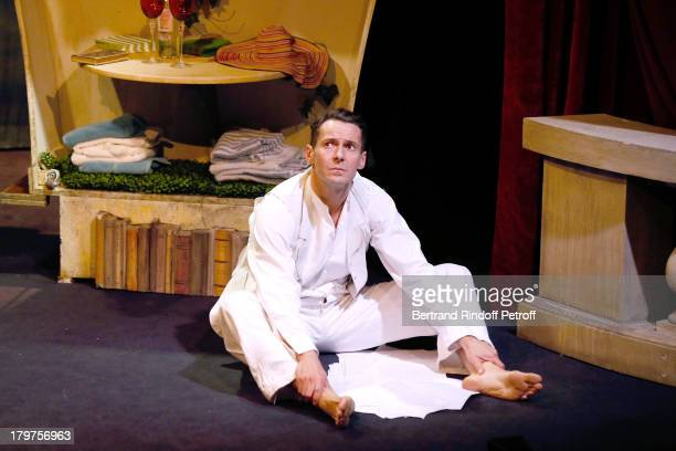 Julien Boisselier performs in 'Zelda Scott' RunThrough at La Bruyere Theater In Paris at Theatre La Bruyere on September 3 2013 in Paris France