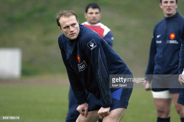 Julien BONNAIRE Entrainement de l equipe de France de Rugby au CNR Marcoussis Tournoi des 6 Nations 2008