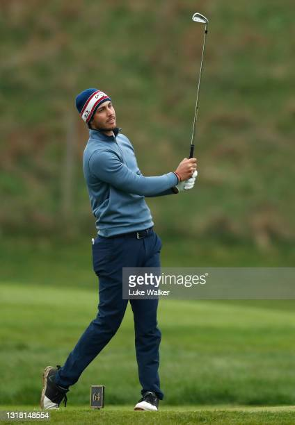 Julien Brun of France plays his tee shot on the 3rd hole during Day Three of the Range Servant Challenge by Hinton Golf at Hinton Golf Club on May...