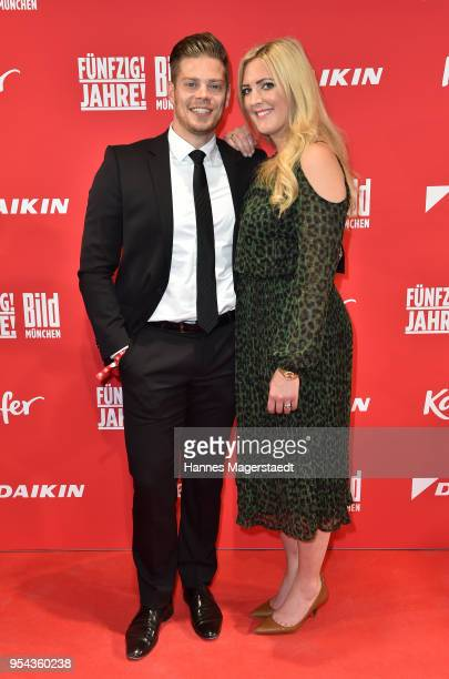 Julien Christopher Fuchsberger grandson of Joachim 'Blacky' Fuchsberger and son of Thomas Fuchsberger and his girlfriend Nathalie Weber attend the...