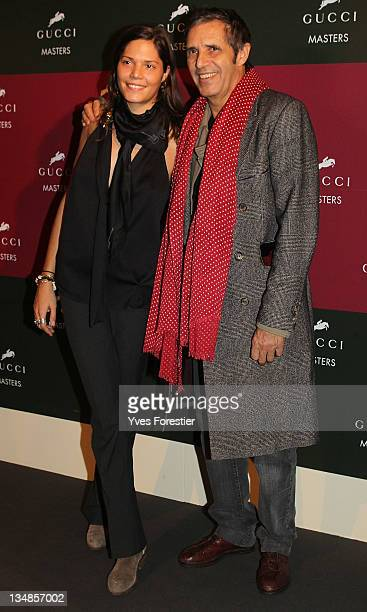 Julien Clerc and his daughter Vanille attend the International Gucci Masters competition on December4 2011 in Villepinte France