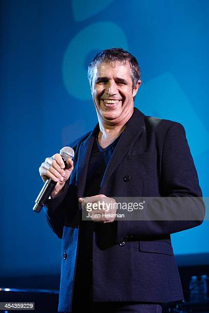 Julien Clerc performs on stage during the 50th anniversary celebration of french radio France Inter at La Gaite Lyrique on December 8 2013 in Paris...