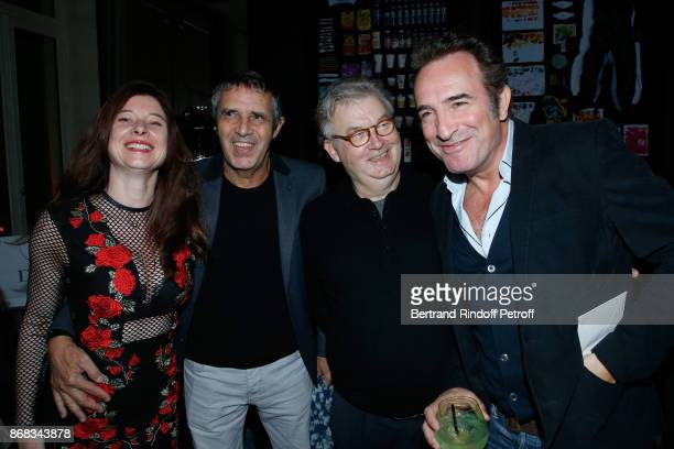 Julien Clerc with his wife Helene Gremillon Dominique Besnehard and Jean Dujardin attend Claude Lelouch celebrates his 80th Birthday at Restaurant...