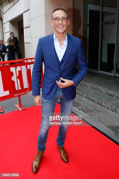 Julien Courbet 'Ca peut vous arriver' on RTL attends the RTL RTL2 Fun Radio Press Conference to announce their TV Schedule for 2017/2018 at Elysee...