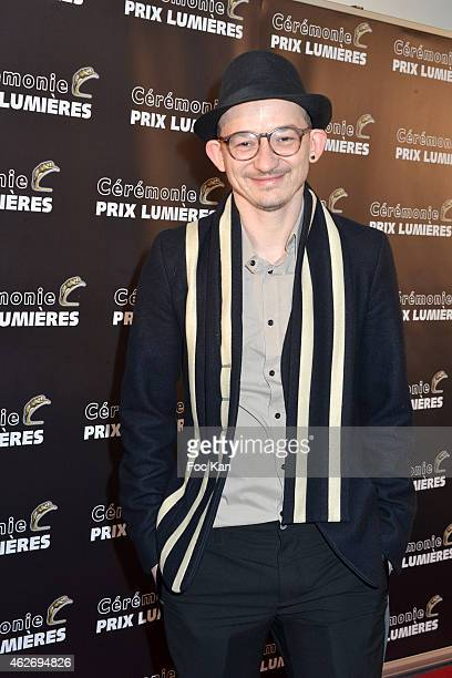 Julien Courbey attends 'Les Lumieres 2015' Arrivals At Espace Pierre Cardin on February 2 2015 in Paris France