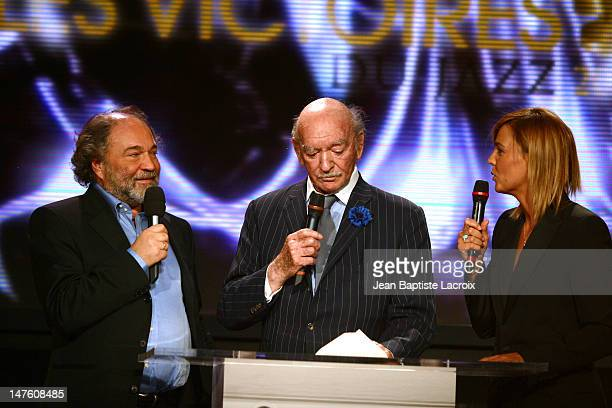 Julien Delli Fiori Eddie Barclay Marine Vignes during MIDEM 2003 Les Victoires du Jazz at Palais des Festivals in Cannes France