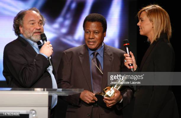 Julien Delli Fiori Wayne Shorter Marine Vignes during MIDEM 2003 Les Victoires du Jazz at Palais des Festivals in Cannes France