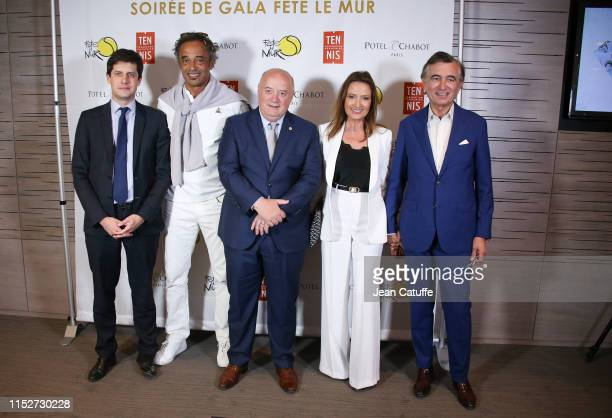 Julien Denormandie French Minister for Towns and Housing Yannick Noah Bernard Giudicelli President of the French Tennis Federation Philippe...