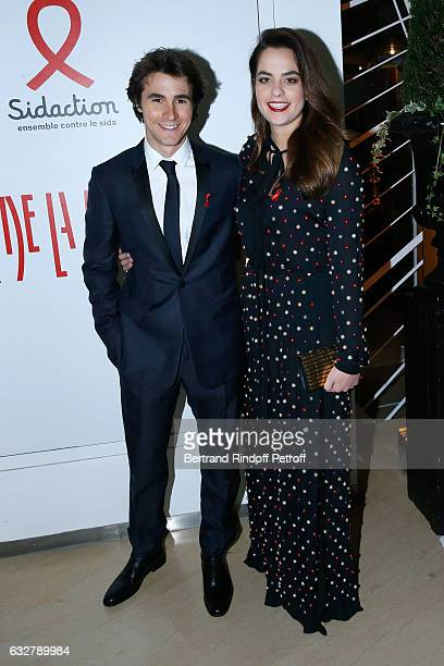 Julien Dereims and Anouchka Delon attend the Sidaction Gala Dinner 2017 Haute Couture Spring Summer 2017 show as part of Paris Fashion Week on...