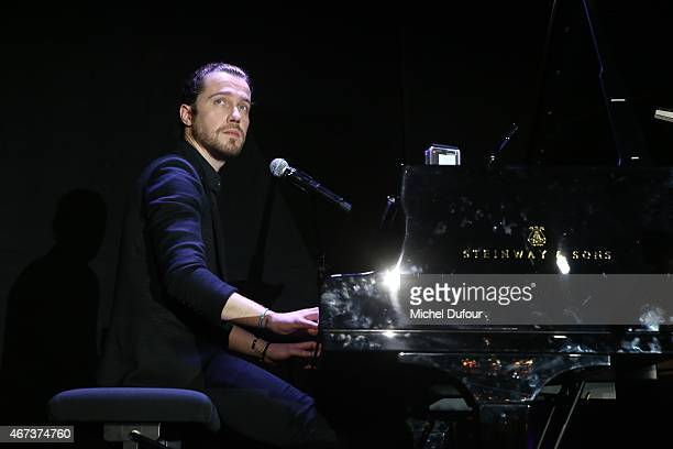 Julien Dore performing attends the 'Sauveteurs Sans Frontiere' Charity Party In Paris on March 23 2015 in Paris France
