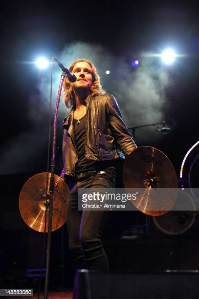 Julien Dore performs on stage during the 'Crazy Week' Festival at Theatre de Verdure on July 18 2012 in Nice France