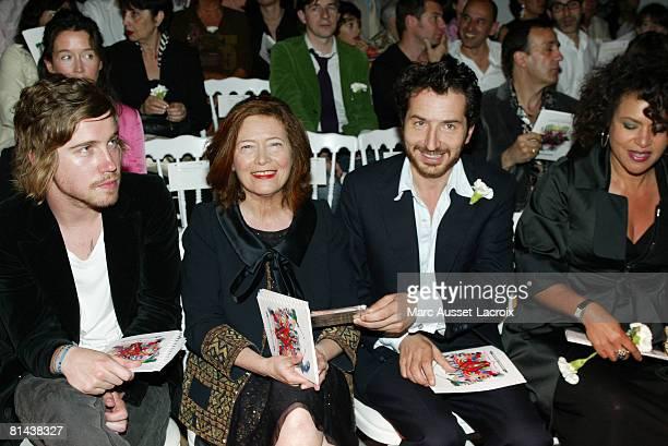 Julien Dore Viviane Blassel Edouard Baer and Victor Lazlo attends the Christian Lacroix Fashion show during Paris Haute Couture Fashion Week...