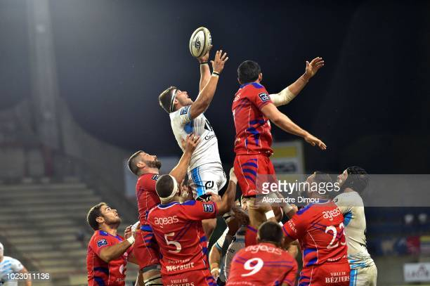 Julien Dumoulin of Massy during Pro D2 match between Beziers and Massy on August 23 2018 in Beziers France