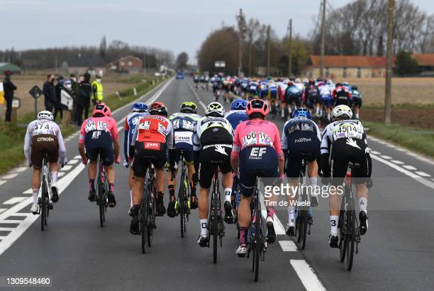 Julien Duval of France and AG2R Citröen Team, Fumiyuki Beppu of Japan and Team EF Education - Nippo, Philippe Gilbert of Belgium and Team Lotto...