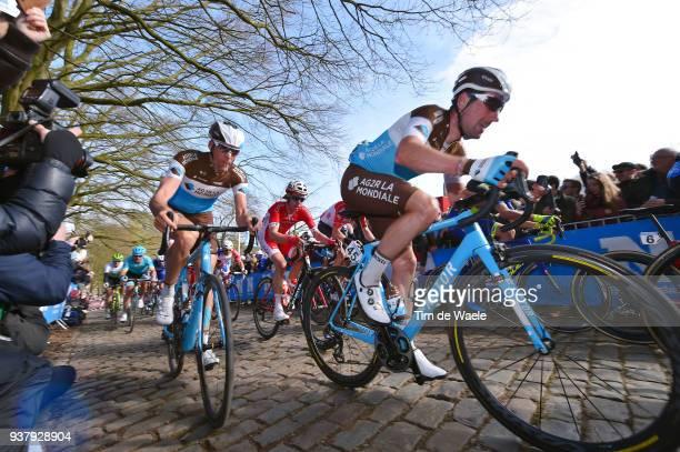 Julien Duval of France and Team AG2R La Mondiale / Stijn Vandenbergh of Belgium and Team AG2R La Mondiale / during the 80th GentWevelgem In Flanders...