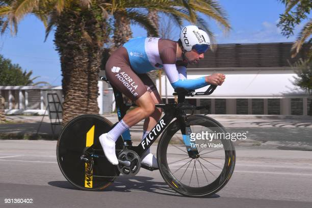 Julien Duval of France during the 53rd TirrenoAdriatico 2018 Stage 7 a 105km Individual Time Trial stage in San Benedetto Del Tronto on March 13 2018...