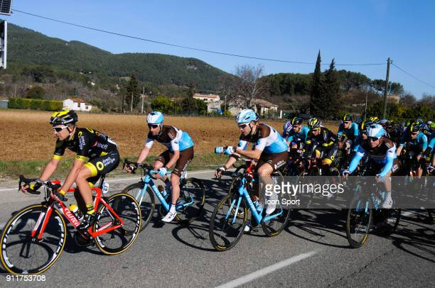 Julien Duval Tony Gallopin and Samuel Dumoulin of AG2R during the Grand Prix La Marseillaise on January 28 2018 in Marseille France