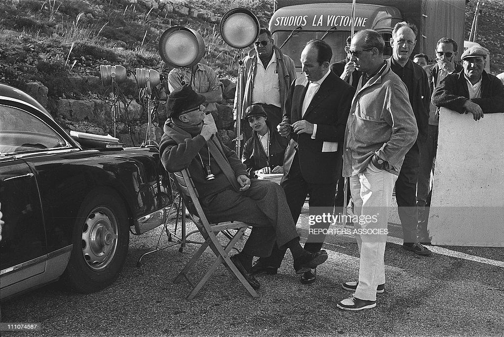 "Filming of ""Chair De Poule"" (Goss bumps) in France in June, 1963. : News Photo"
