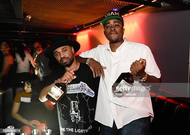 Julien Edwards and Gabe Zardes attend the Marquee Takeover at Verso Big Game Weekend presented by Hennessy VS Day 4 on February 7 2016 in San...