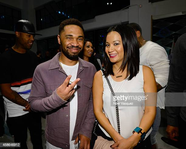 Julien Edwards and Hennessy West Coast Marketing Manager ThuyAnh J Nguyen attend Hennessy VS Presents Brandon Williams' Simple is Perfect Capsule...