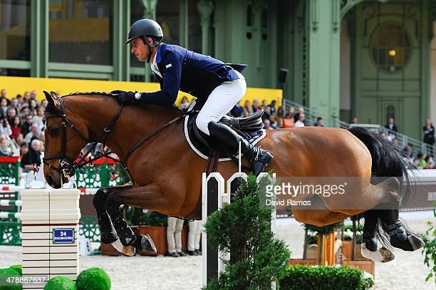Julien Epaillard of France on Cristallo A Lm in action to finish third during the Prix GL Events during the second day of the Grand Prix Hermes of...