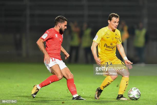 Julien Faussurier of Brest during the Ligue 2 match between Nimes Olympique and Stade Brestois at on October 20 2017 in Nimes France