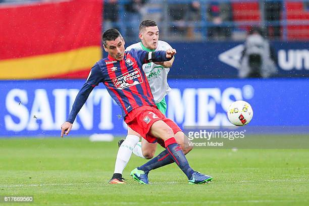 Julien Feret of Caen during the Ligue 1 match between SM Caen and AS Saint-Etienne at Stade Michel D'Ornano on October 23, 2016 in Caen, France.