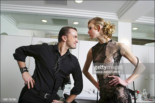 Julien Fournie New Art Director Of The Torrente Fashion House On January 17 2004 In Paris France Julien Fournie Presents His Little Black Dress With...