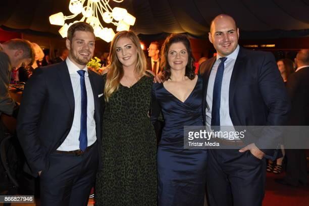Julien Fuchsberger his girlfriend Natalie Weber Jennifer Fuchsberger and her boyfriend Goekberk Buyan attend the 7th Diabetes Charity Gala at TIPI am...