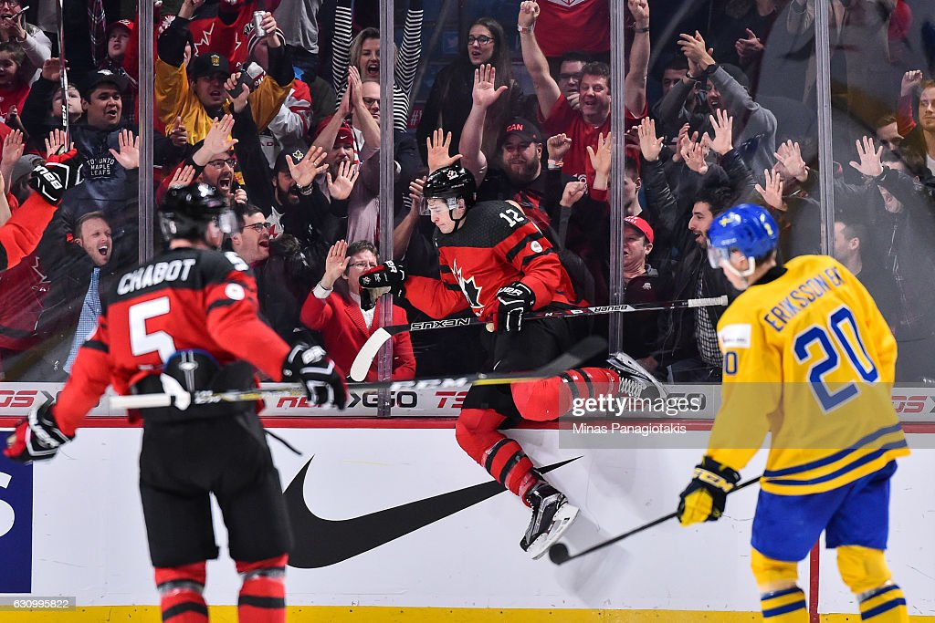 Sweden v Canada: Semifinal - 2017 IIHF World Junior Championship : News Photo