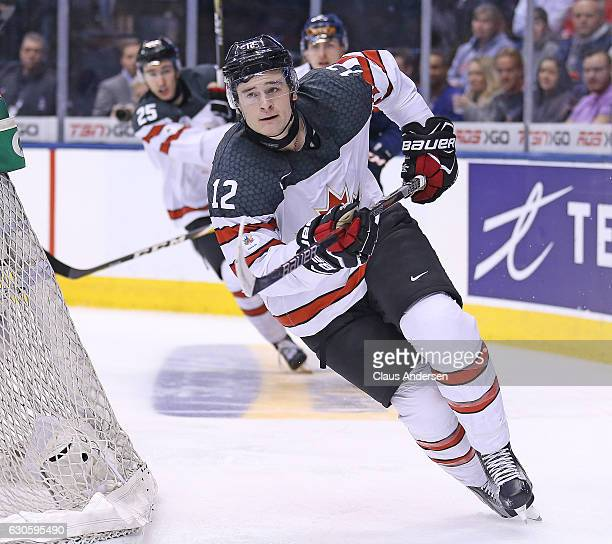 Julien Gauthier of Team Canada skates against Team Slovakia during a preliminary game in the 2017 IIHF World Junior Hockey Championship at the Air...